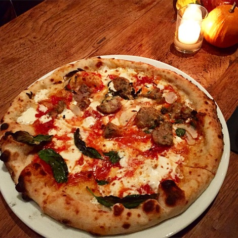 margherita & meatball pizza