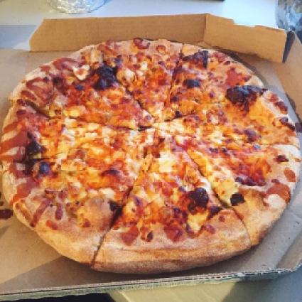 Domino S Buffalo Chicken Pizza Mattapan Boston Ma Pizza Blonde
